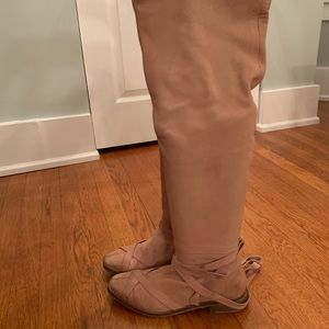 Free People Over The Knee Wrap Boots